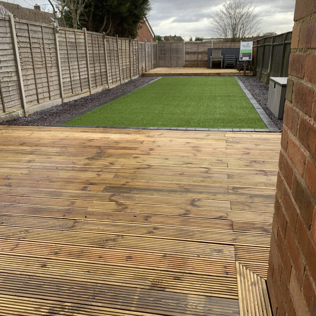 wood decking by dual landscaping coventry